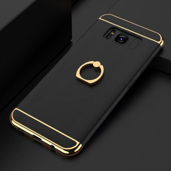 Skal till Samsung Galaxy S8 Kisscase Ringhållare Svart