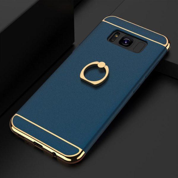 Skal till Samsung Galaxy S8 Kisscase Ringhållare Blå