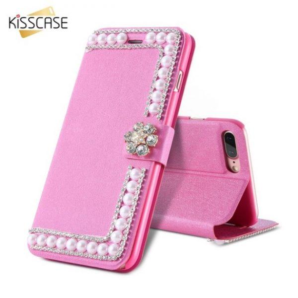 Fodral till iPhone 8 Plus och iPhone 7 Plus Kisscase Glitter