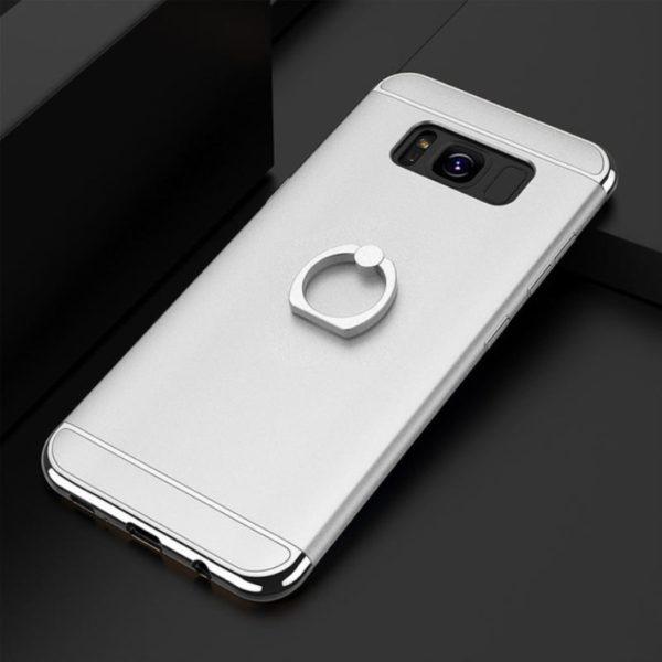 Skal till Samsung Galaxy S8 Kisscase Ringhållare Silver