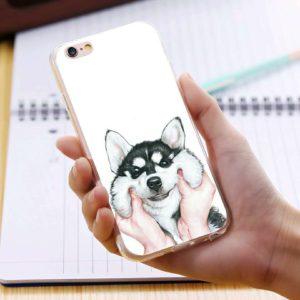 Skal till iPhone 5 5S och iPhone SE Roligt gulligt Valp & skalle