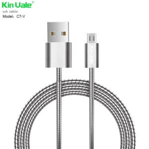 Laddkabel Metal Micro USB till Android Kin Vale C7