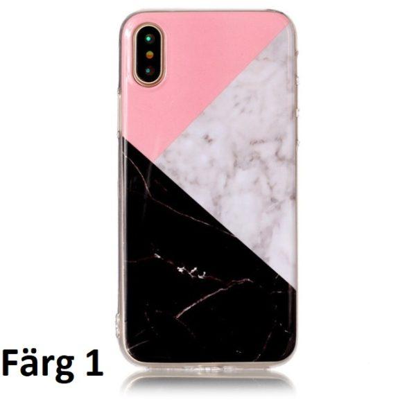 Skal till iPhone X Marmorerad F1