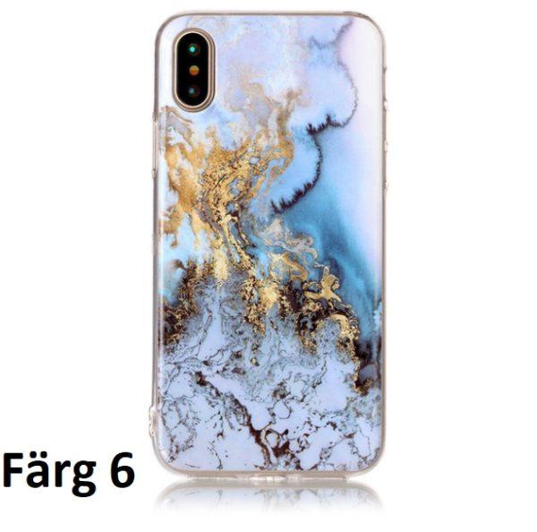 Skal till iPhone X Marmorerad F6