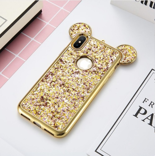 Skal till iPhone X Mickey Mouse Guld