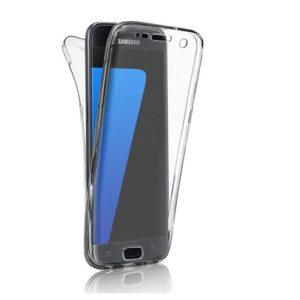 Skal till Samsung Galaxy S7 Transparent Dubbelskydd