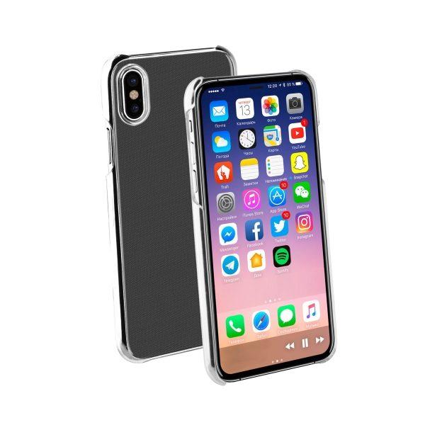 Skal till iPhone X Transparent Vivanco 38660