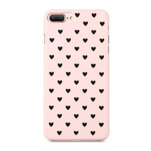 Skal till iPhone 8 och iPhone 7 Hjärta 3 Rosa