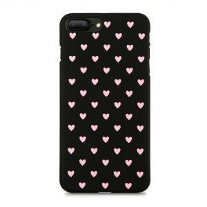 Skal till iPhone 8 och iPhone 7 Hjärta 3 Svart
