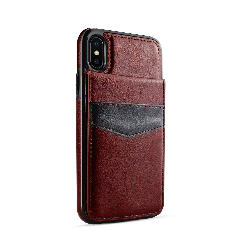 Snyggt mobilskal i brunt läder till iPhone X   Xs  f66a2b6c8f66a
